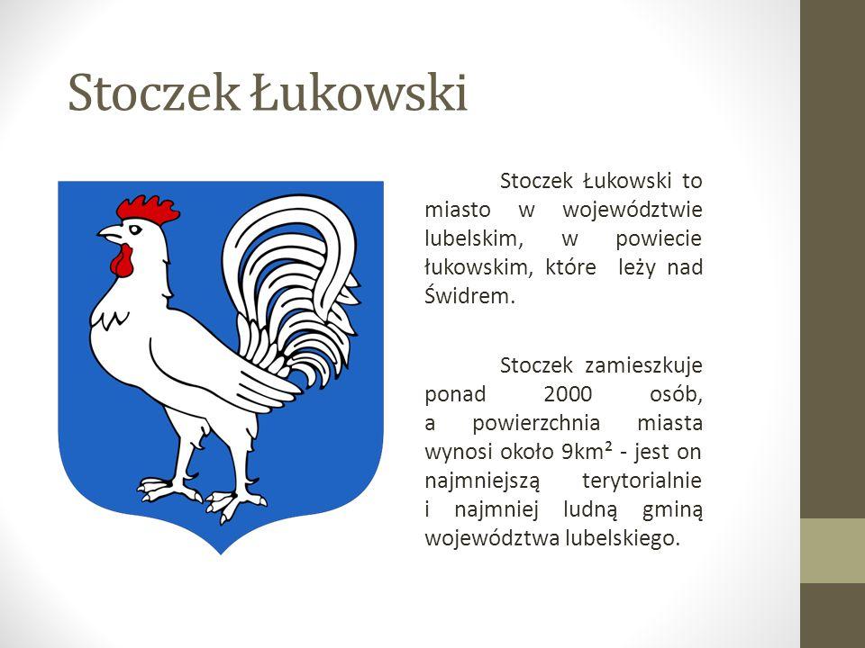 Stoczek Łukowski Stoczek Łukowski to miasto w województwie lubelskim, w powiecie łukowskim, które leży nad Świdrem.