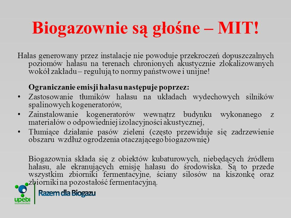 Biogazownie są głośne – MIT!