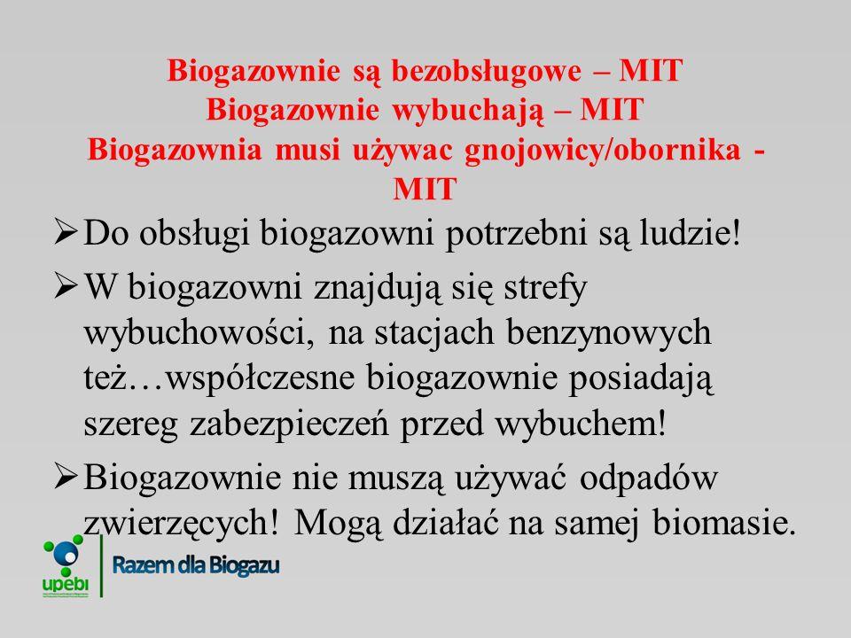 Do obsługi biogazowni potrzebni są ludzie!