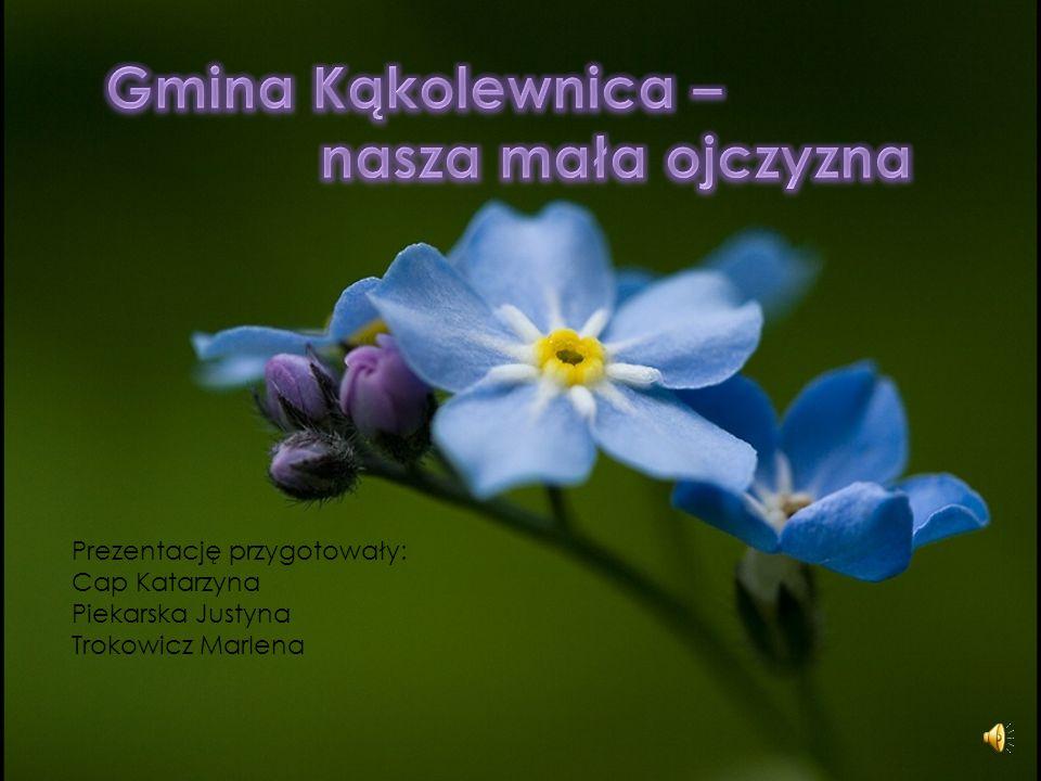 Gmina Kąkolewnica – nasza mała ojczyzna Prezentację przygotowały: