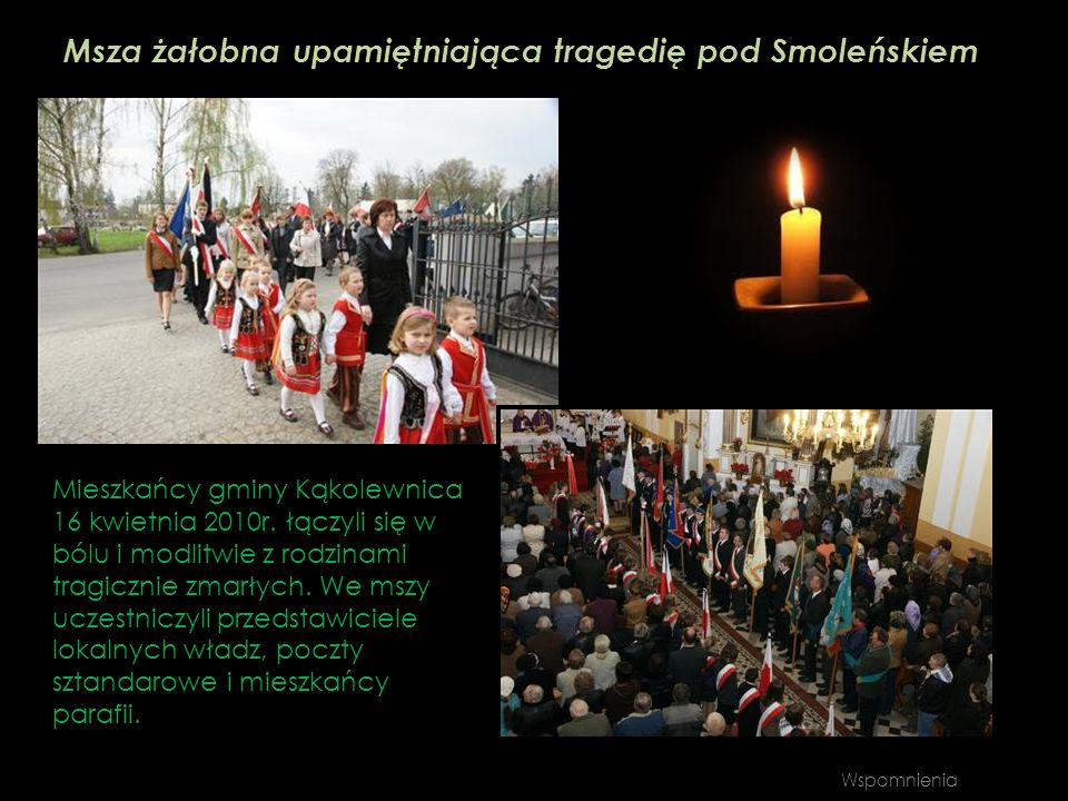 Msza żałobna upamiętniająca tragedię pod Smoleńskiem