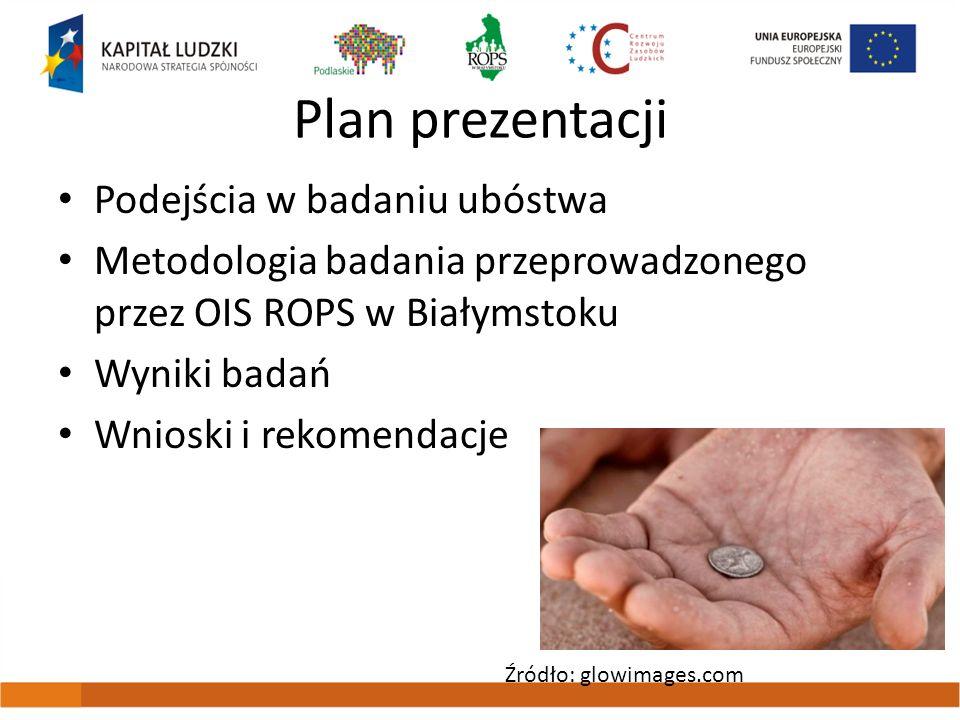 Plan prezentacji Podejścia w badaniu ubóstwa