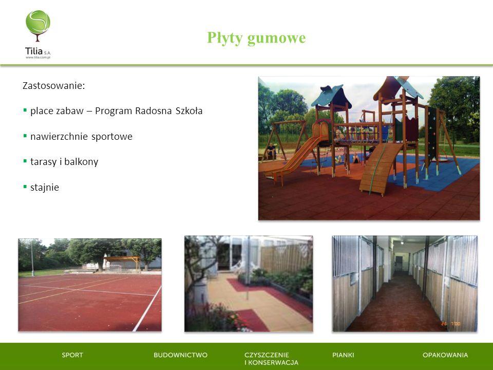 Płyty gumowe Zastosowanie: place zabaw – Program Radosna Szkoła