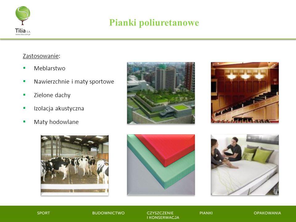 Pianki poliuretanowe Zastosowanie: Meblarstwo