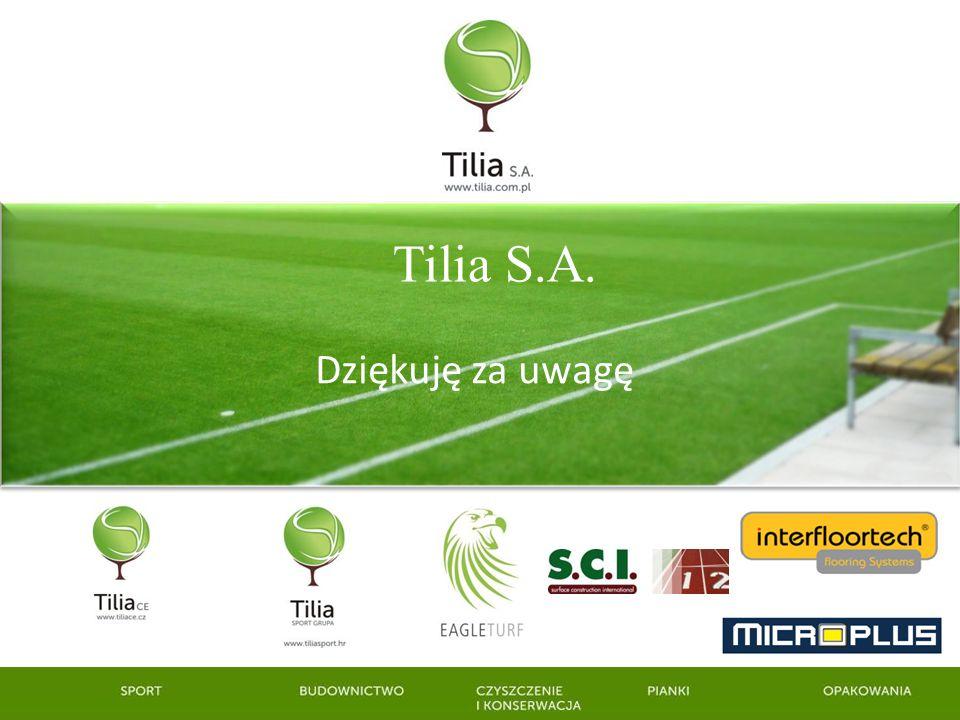 Tilia S.A. Dziękuję za uwagę