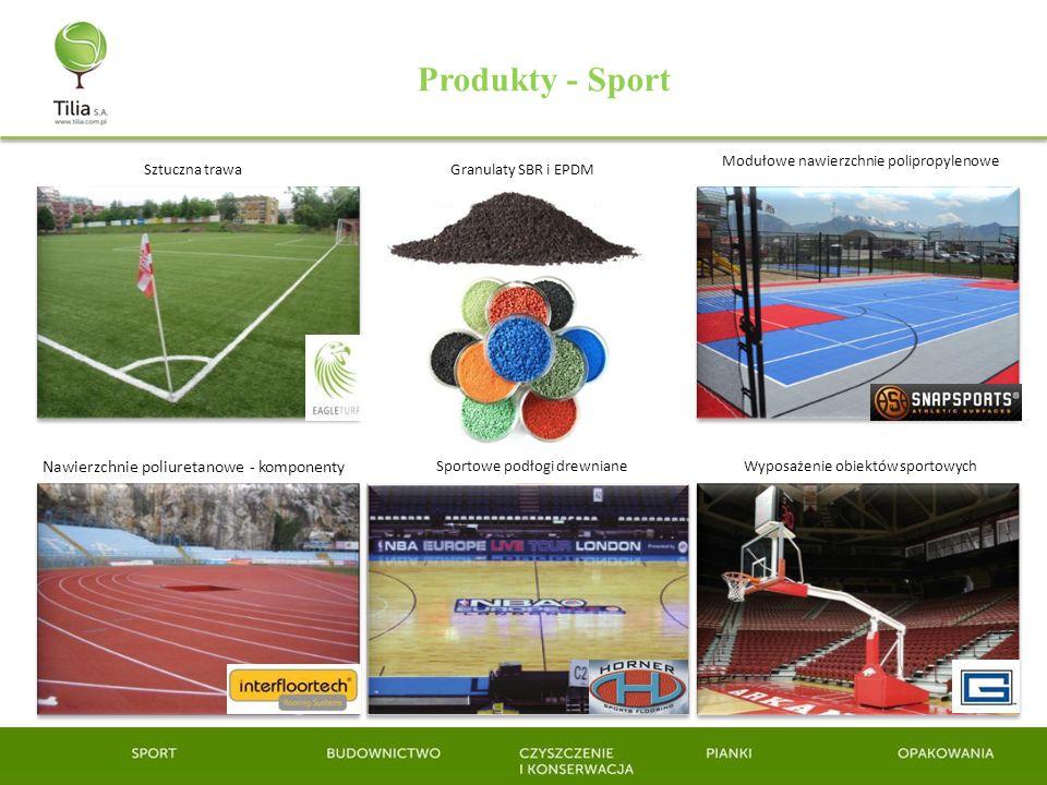 Produkty - Sport Nawierzchnie poliuretanowe - komponenty