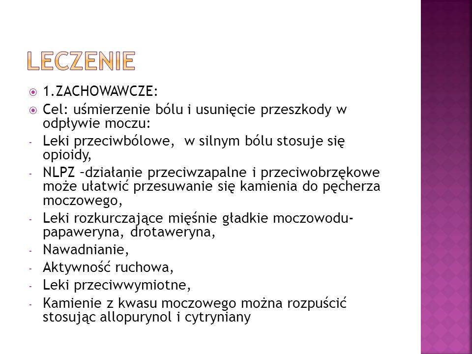 leczenie 1.ZACHOWAWCZE: