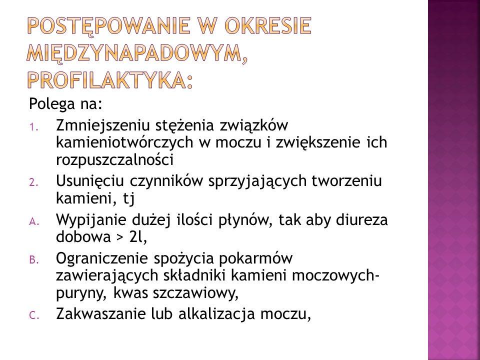POSTĘPOWANIE W OKRESIE MIĘDZYNAPADOWYM, PROFILAKTYKA: