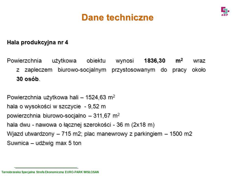 Dane techniczne Hala produkcyjna nr 4