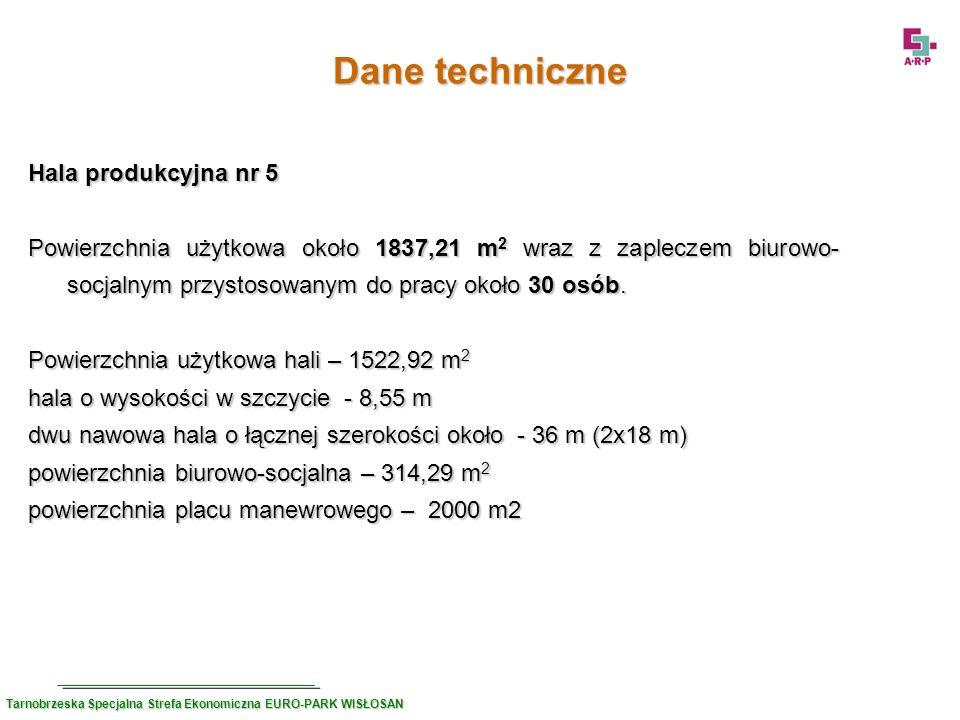 Dane techniczne Hala produkcyjna nr 5