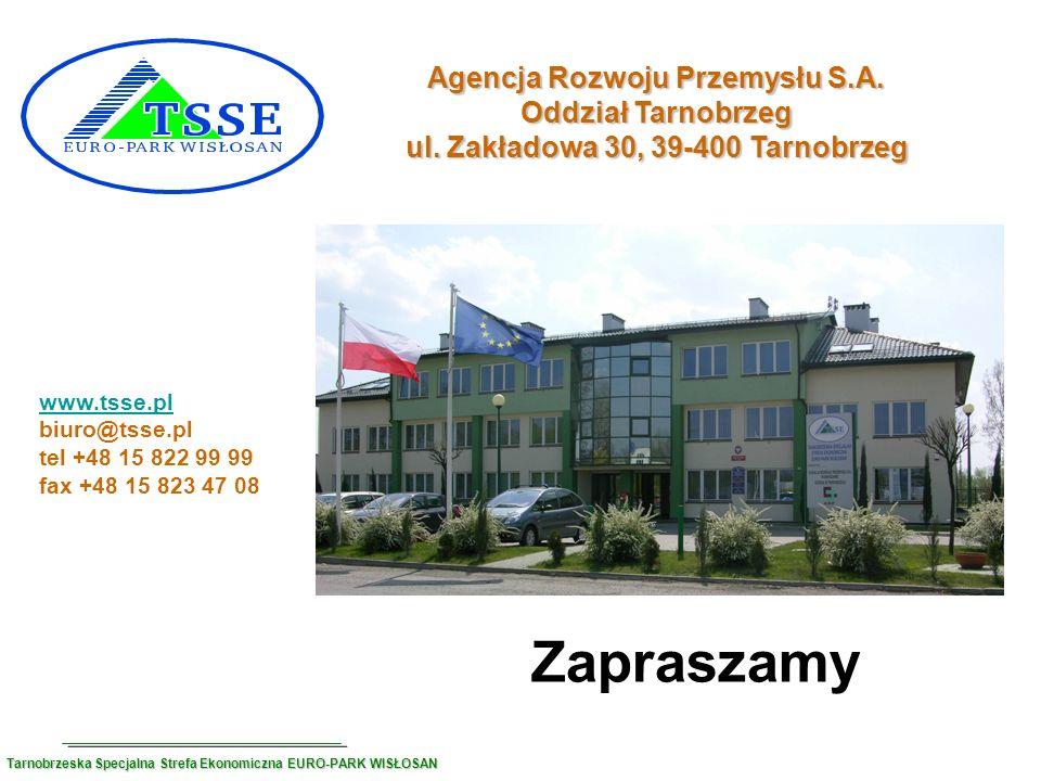 Agencja Rozwoju Przemysłu S.A. ul. Zakładowa 30, 39-400 Tarnobrzeg