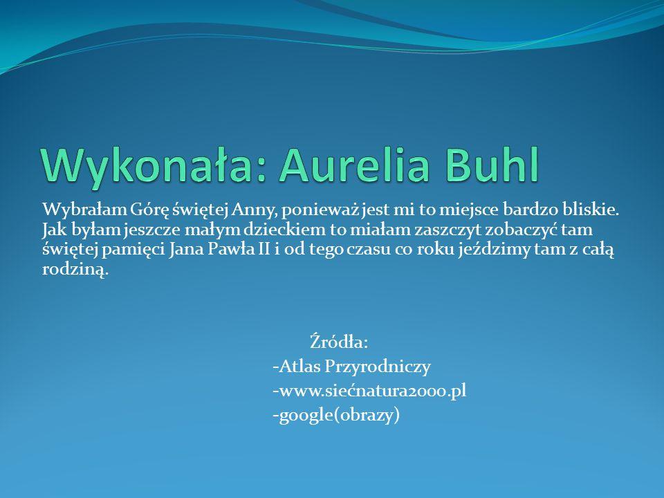 Wykonała: Aurelia Buhl