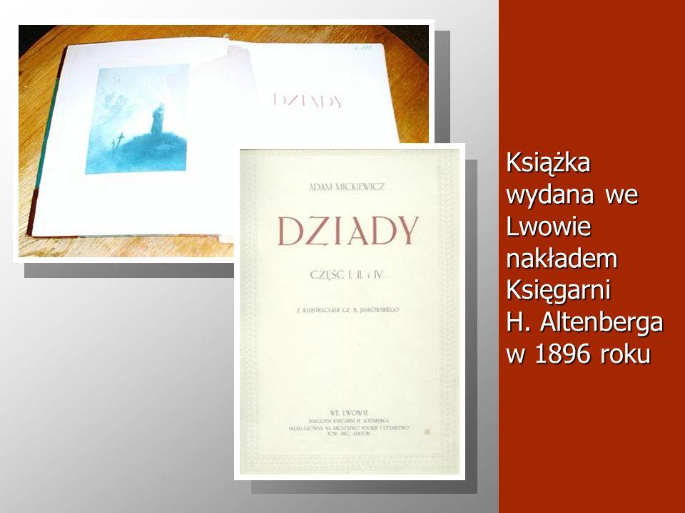 Książka wydana we Lwowie nakładem Księgarni H. Altenberga w 1896 roku