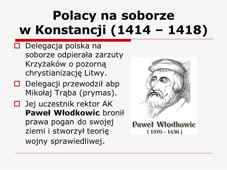Polacy na soborze w Konstancji (1414 – 1418)