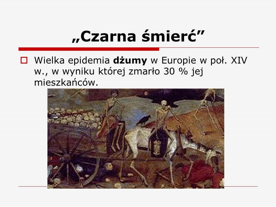 """""""Czarna śmierć Wielka epidemia dżumy w Europie w poł."""