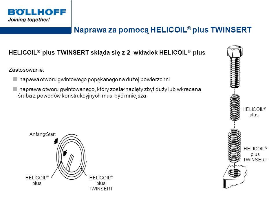 Naprawa za pomocą HELICOIL® plus TWINSERT