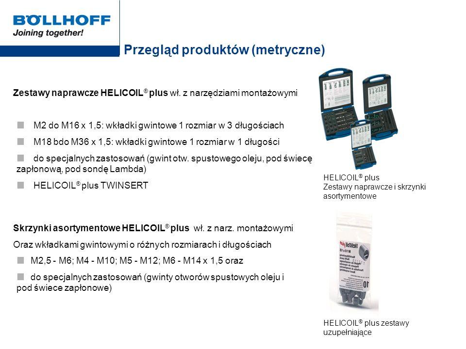 Przegląd produktów (metryczne)