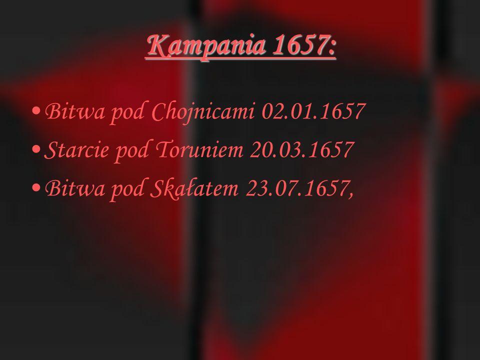 Kampania 1657: Bitwa pod Chojnicami 02.01.1657