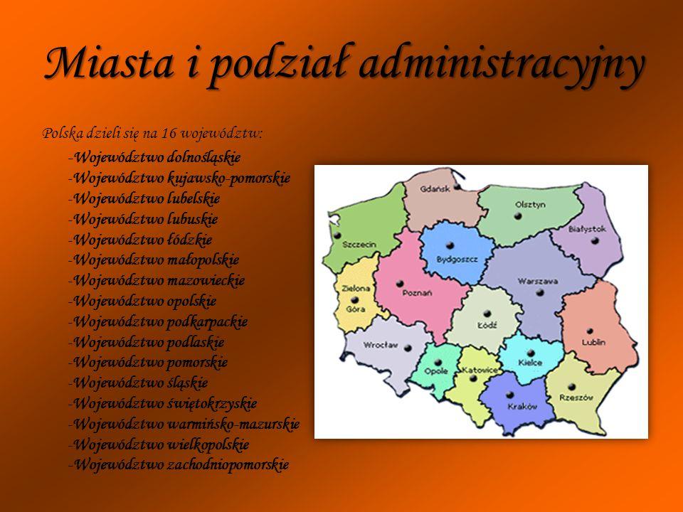Miasta i podział administracyjny