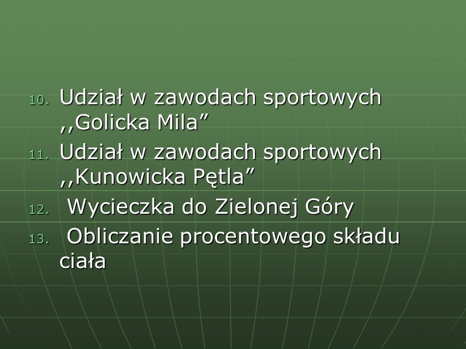 Udział w zawodach sportowych ,,Golicka Mila