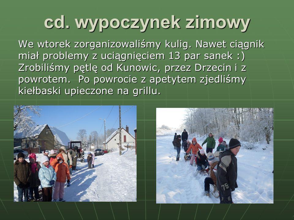 cd. wypoczynek zimowy