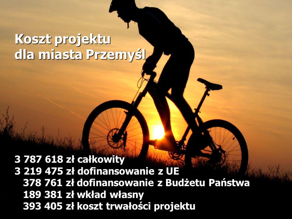 Koszt projektu dla miasta Przemyśl 3 787 618 zł całkowity 3 219 475 zł dofinansowanie z UE 378 761 zł dofinansowanie z Budżetu Państwa 189 381 zł wkład własny 393 405 zł koszt trwałości projektu