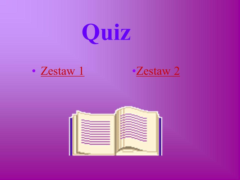 Quiz Zestaw 1 Zestaw 2