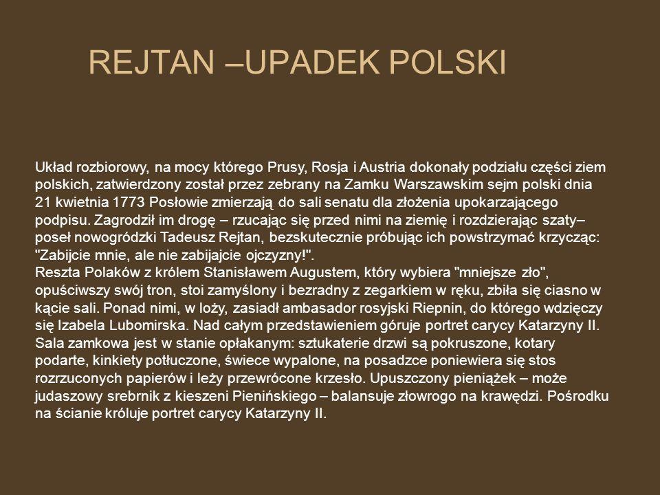 REJTAN –UPADEK POLSKI