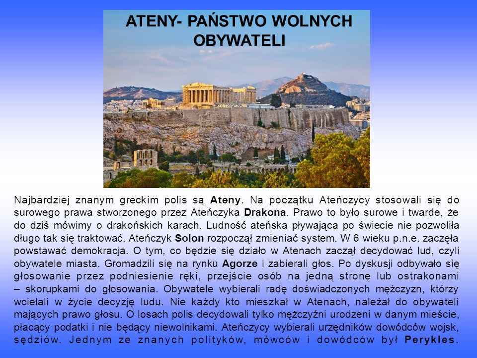 ATENY- PAŃSTWO WOLNYCH OBYWATELI