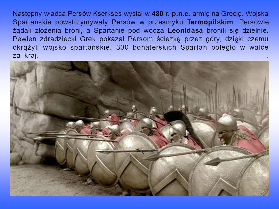 Następny władca Persów Kserkses wysłał w 480 r. p. n. e