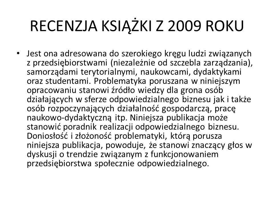 RECENZJA KSIĄŻKI Z 2009 ROKU