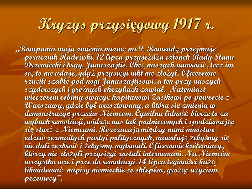 Kryzys przysięgowy 1917 r.