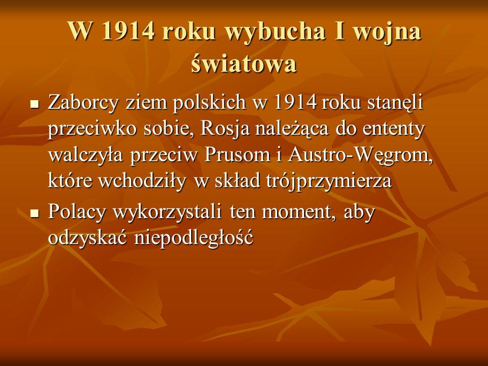 W 1914 roku wybucha I wojna światowa