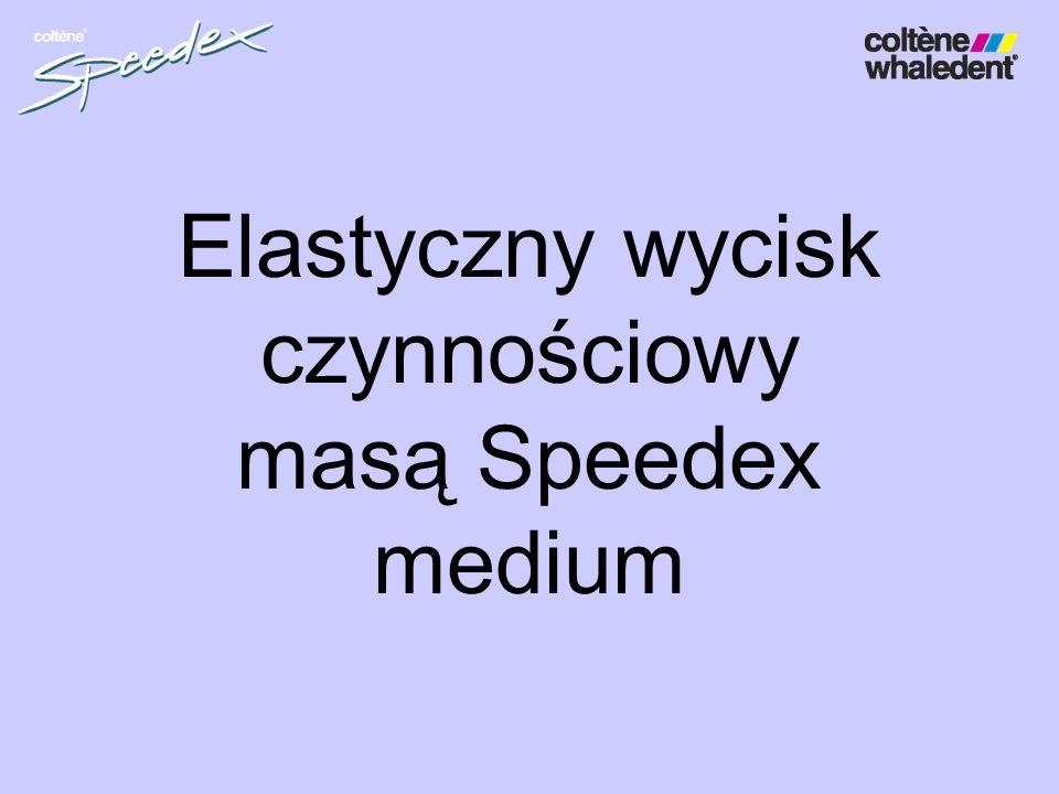 Elastyczny wycisk czynnościowy masą Speedex medium