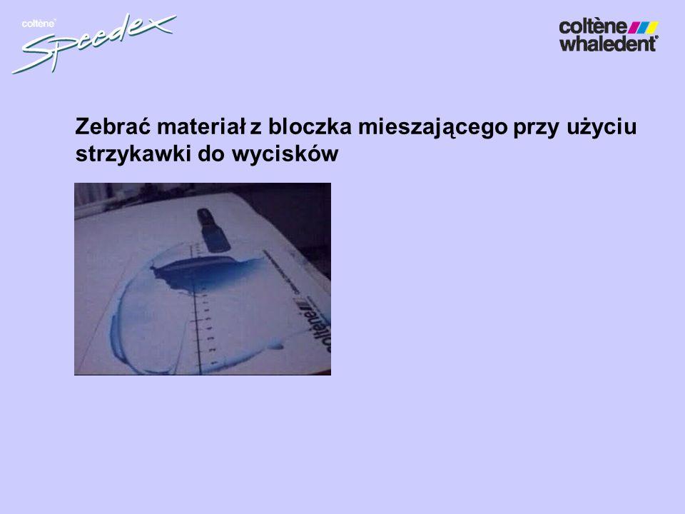 Zebrać materiał z bloczka mieszającego przy użyciu
