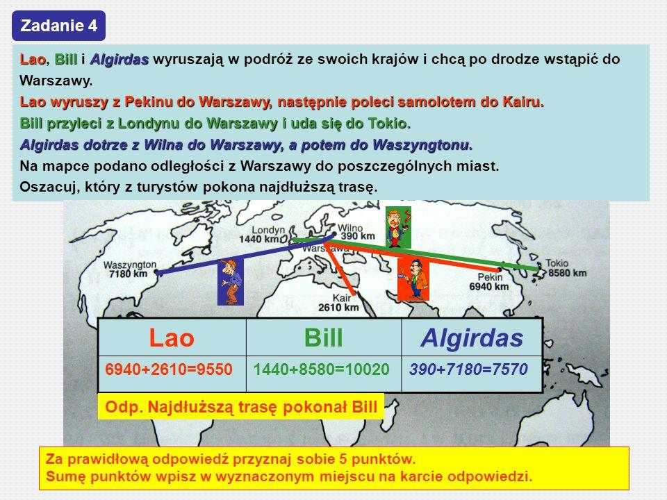 Lao Bill Algirdas Zadanie 4 6940+2610=9550 1440+8580=10020