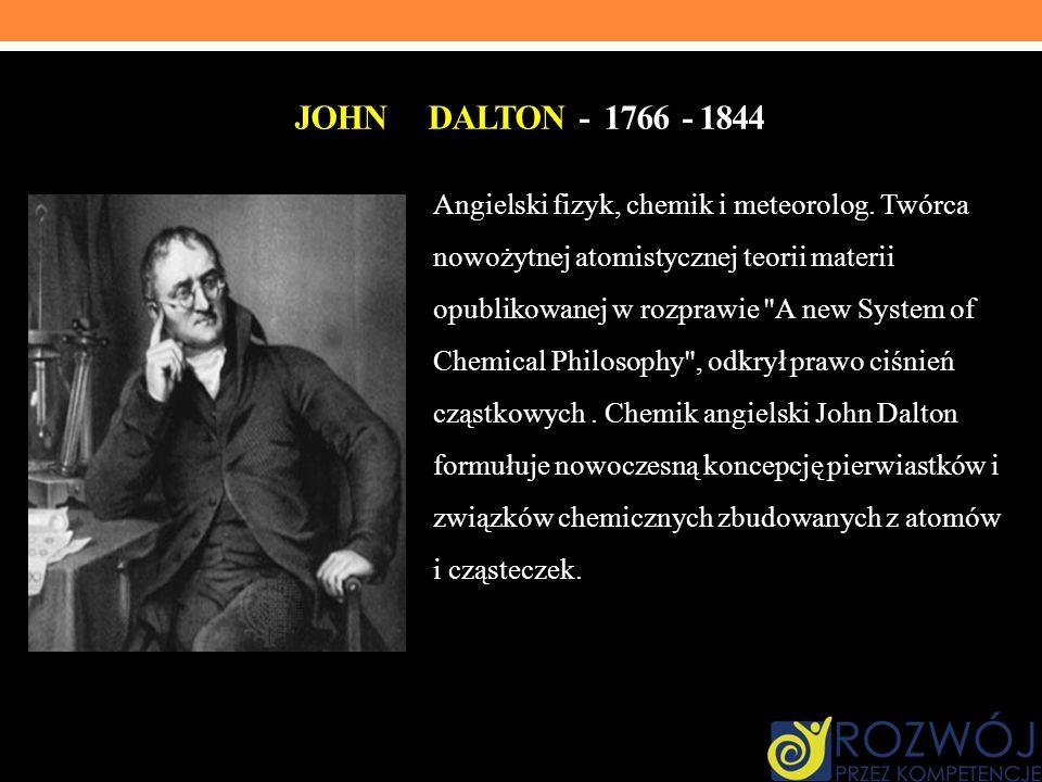 John Dalton - 1766 - 1844