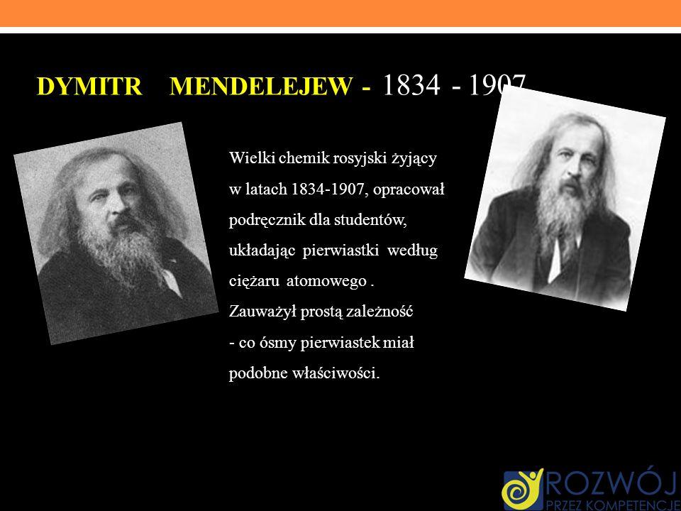 Dymitr Mendelejew - 1834 - 1907