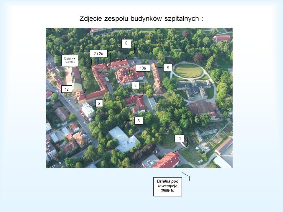 Zdjęcie zespołu budynków szpitalnych :