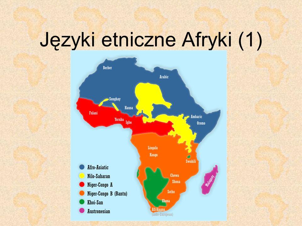 Języki etniczne Afryki (1)