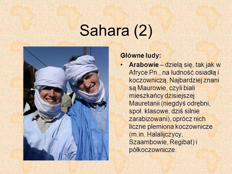 Sahara (2) Główne ludy: