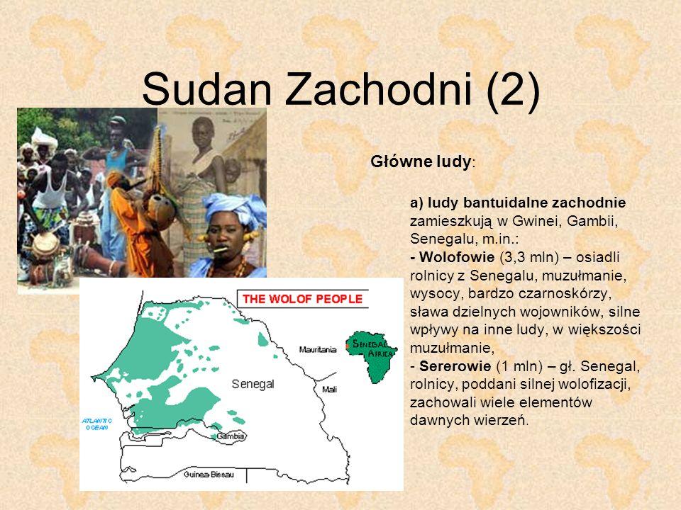 Sudan Zachodni (2) Główne ludy:
