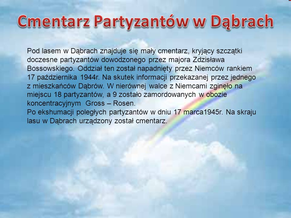 Cmentarz Partyzantów w Dąbrach