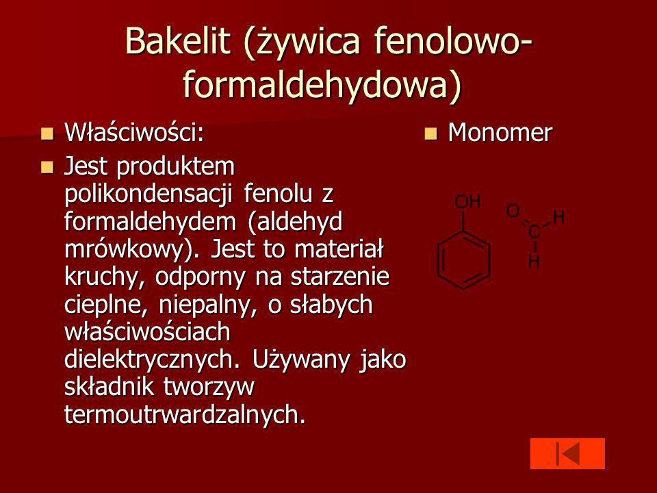 Bakelit (żywica fenolowo-formaldehydowa)