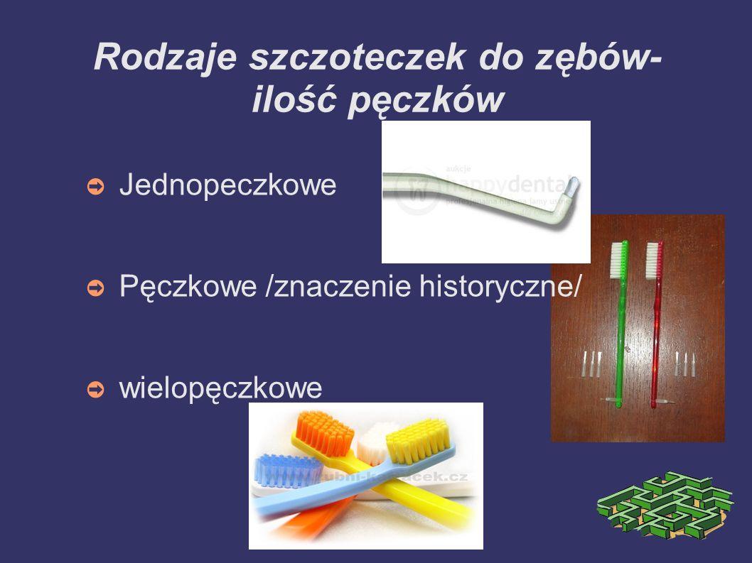 Rodzaje szczoteczek do zębów- ilość pęczków