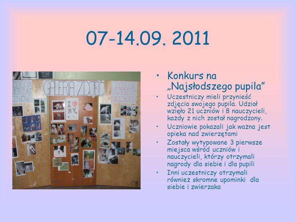 """07-14.09. 2011 Konkurs na """"Najsłodszego pupila"""