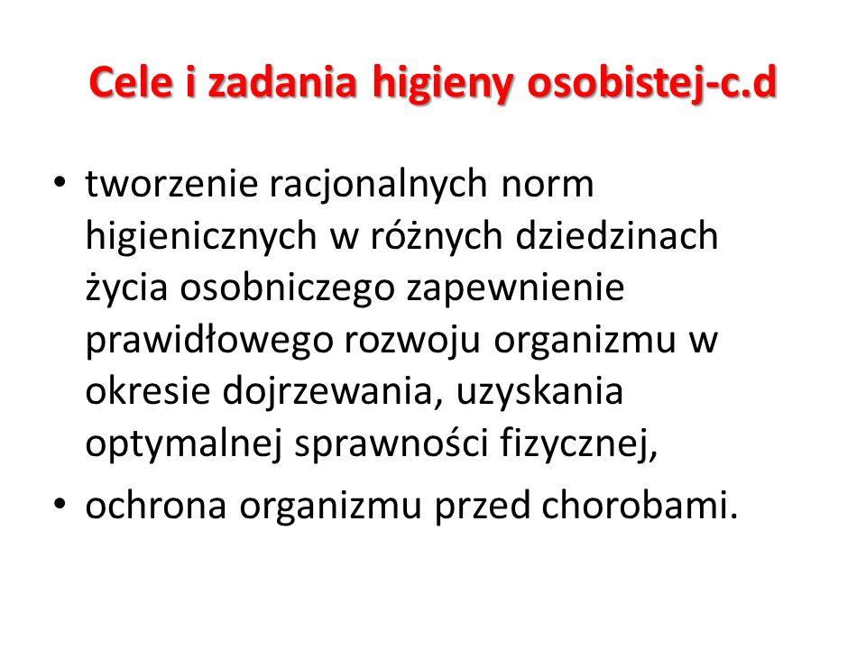 Cele i zadania higieny osobistej-c.d