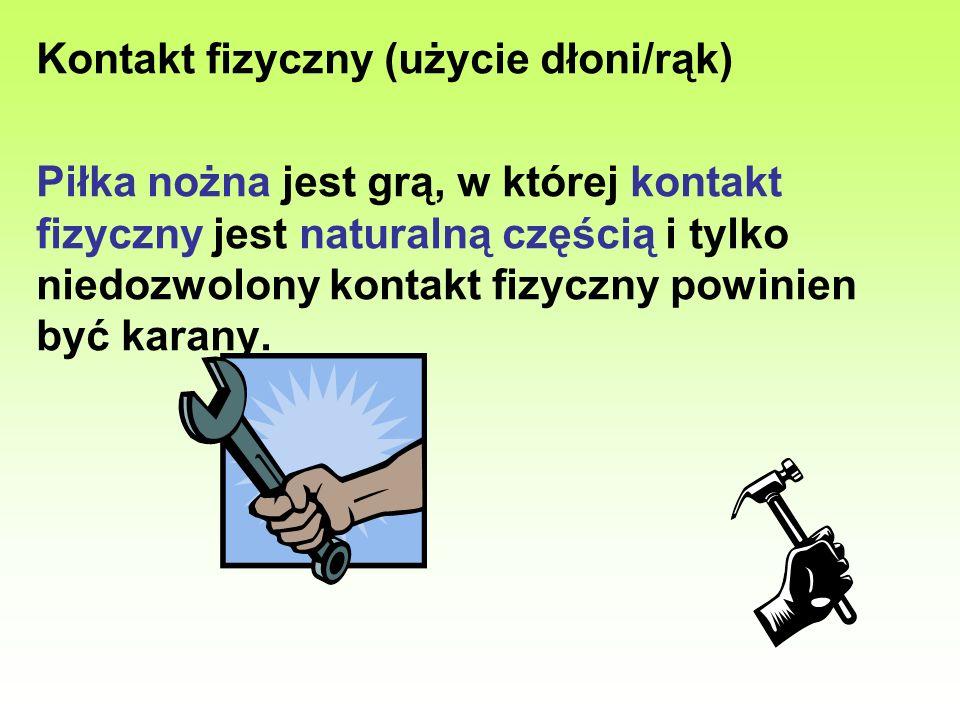 Kontakt fizyczny (użycie dłoni/rąk)