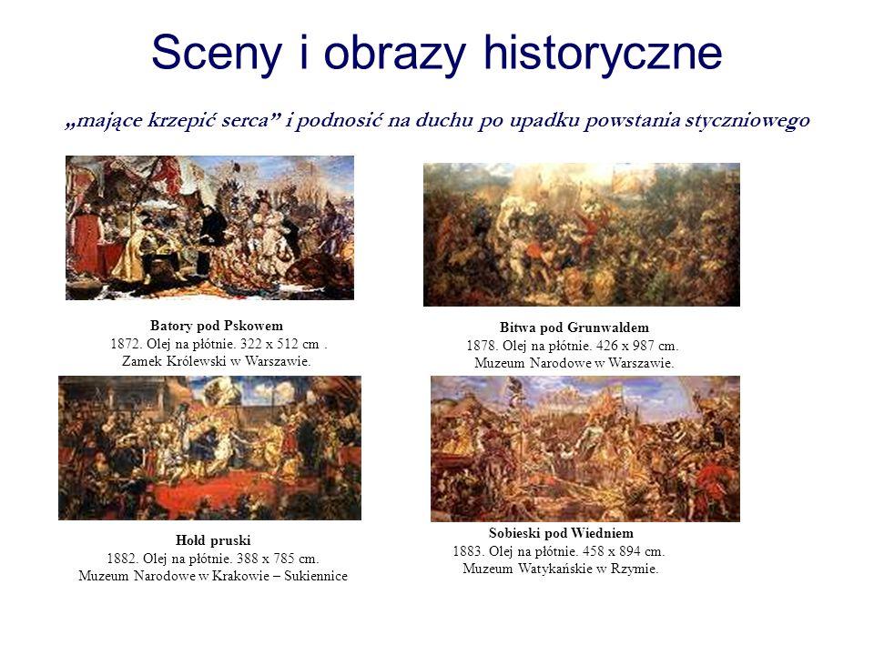 """Sceny i obrazy historyczne """"mające krzepić serca i podnosić na duchu po upadku powstania styczniowego"""