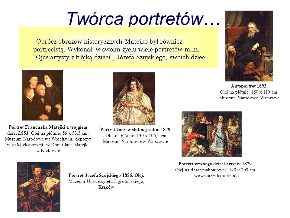 Portret Józefa Szujskiego 1886. Olej.